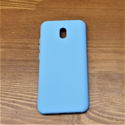 Накладка для Redmi 8A Silicone Case Light Blue